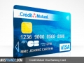 Credit Mutuel Visa Banking Card