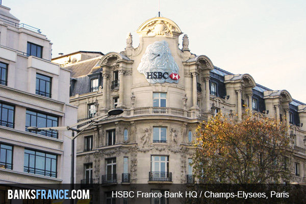 HSBC France Bank HQ Champs Elysees, Paris